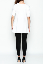 Made on Earth Short Sleeve Goddess Tunic - Back cropped