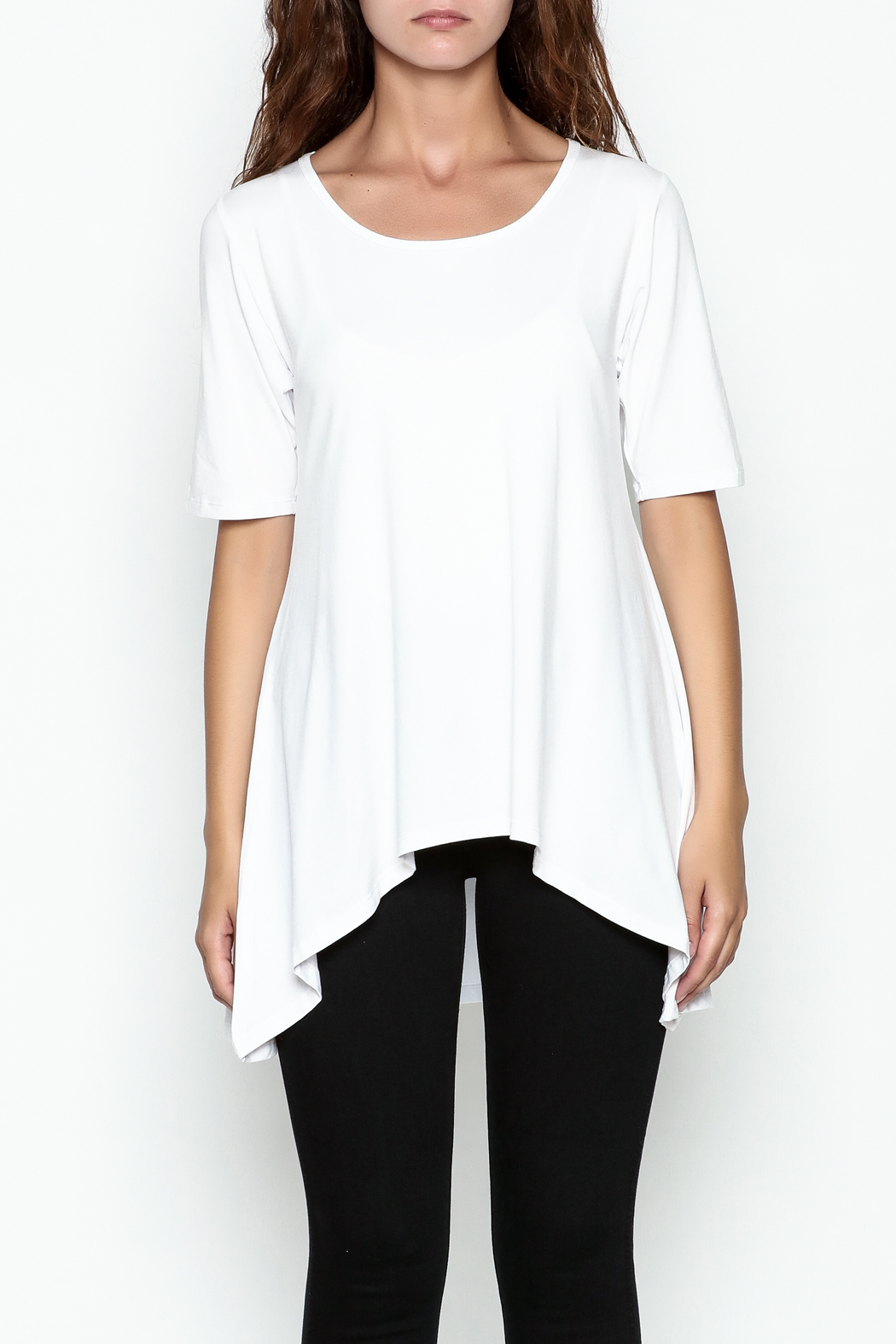 Made on Earth Short Sleeve Goddess Tunic - Front Cropped Image