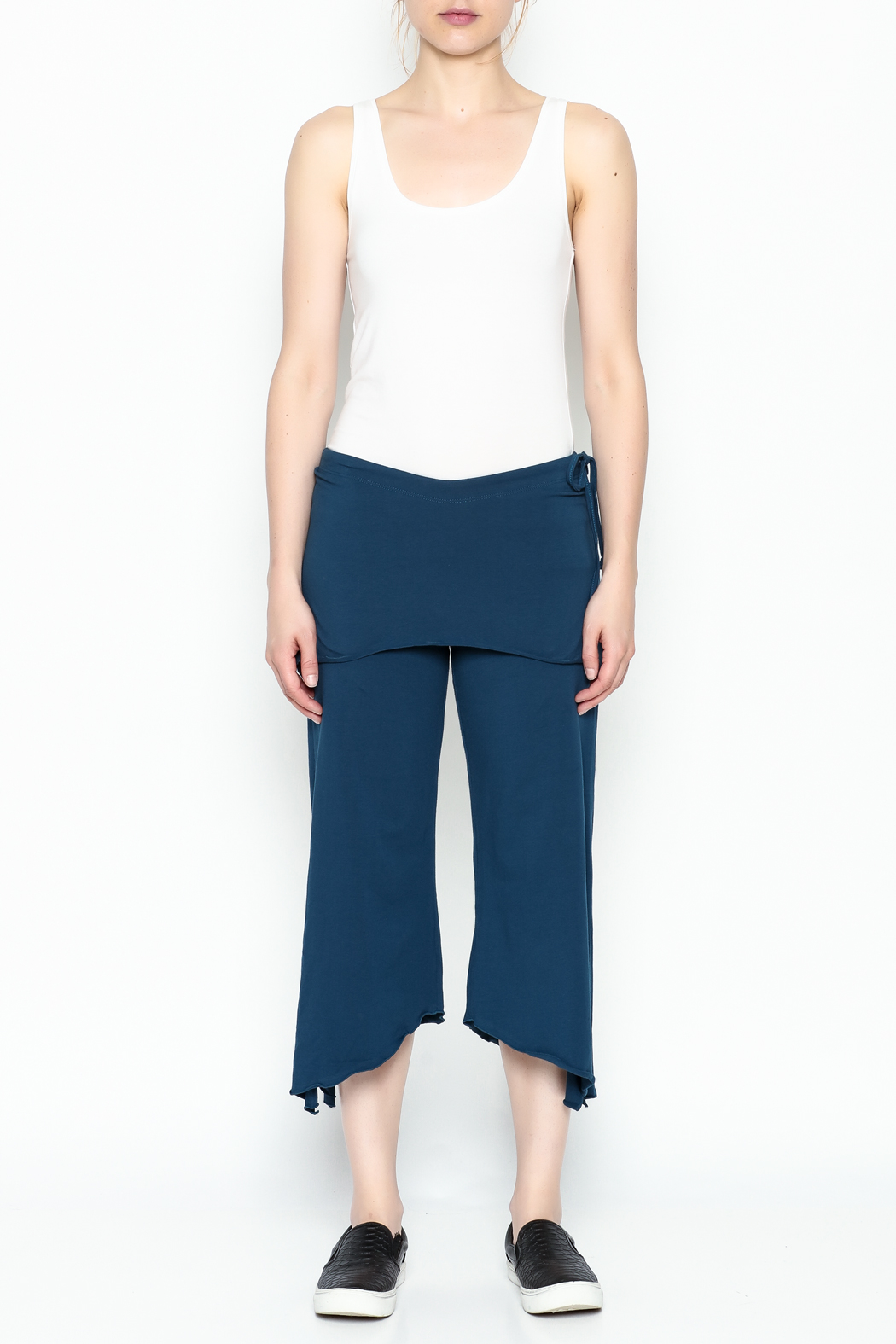 Made on Earth Skirted Crop Pant - Front Full Image