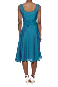Made on Earth Turquoise Wrap Dress - Alternate List Image