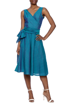 Made on Earth Turquoise Wrap Dress - Product List Image
