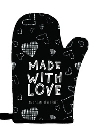 Twisted Wares Made With Love Oven Mitt - Product Mini Image