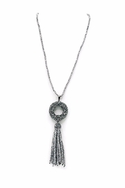 Made It! Crystal Tassel Necklace - Front cropped
