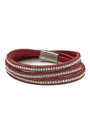 Made It! Leather Wrap Bracelet - Front cropped