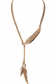 Made It! Metal Feather Necklace - Product Mini Image