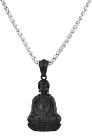 Made It! Sitting Buddha Necklace - Front cropped