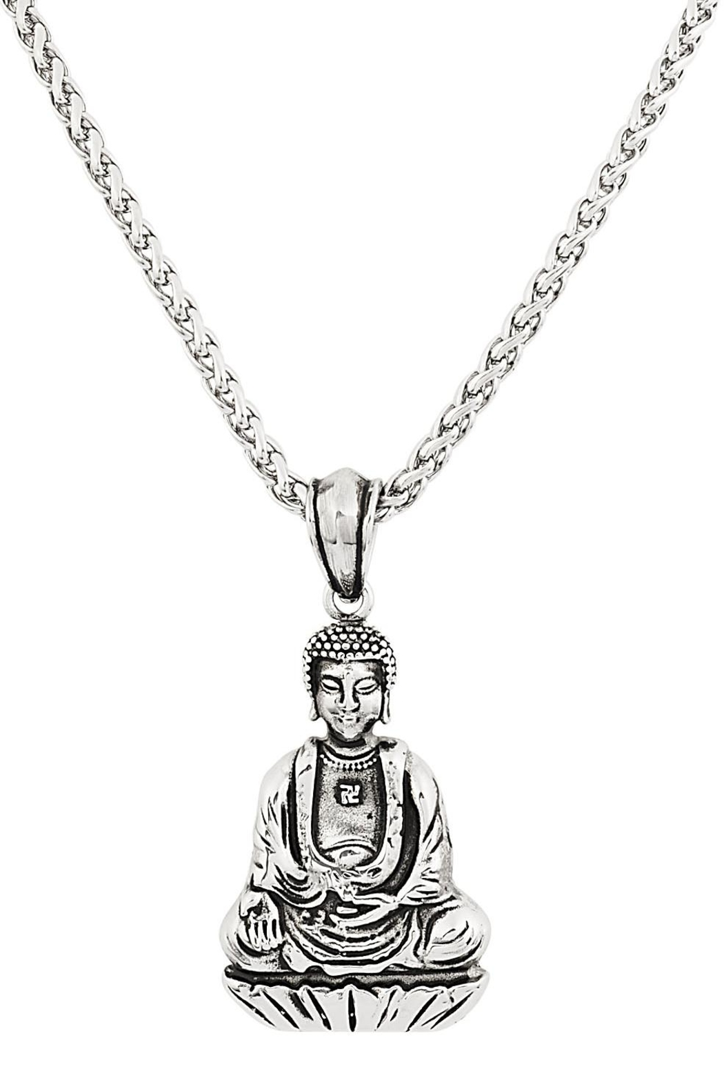 Made It! Sitting Buddha Necklace - Front Cropped Image