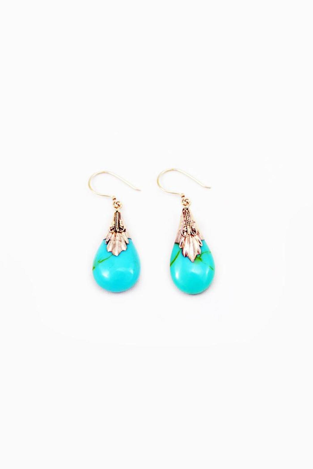 Made on Earth Turquoise  Drop Earring - Main Image