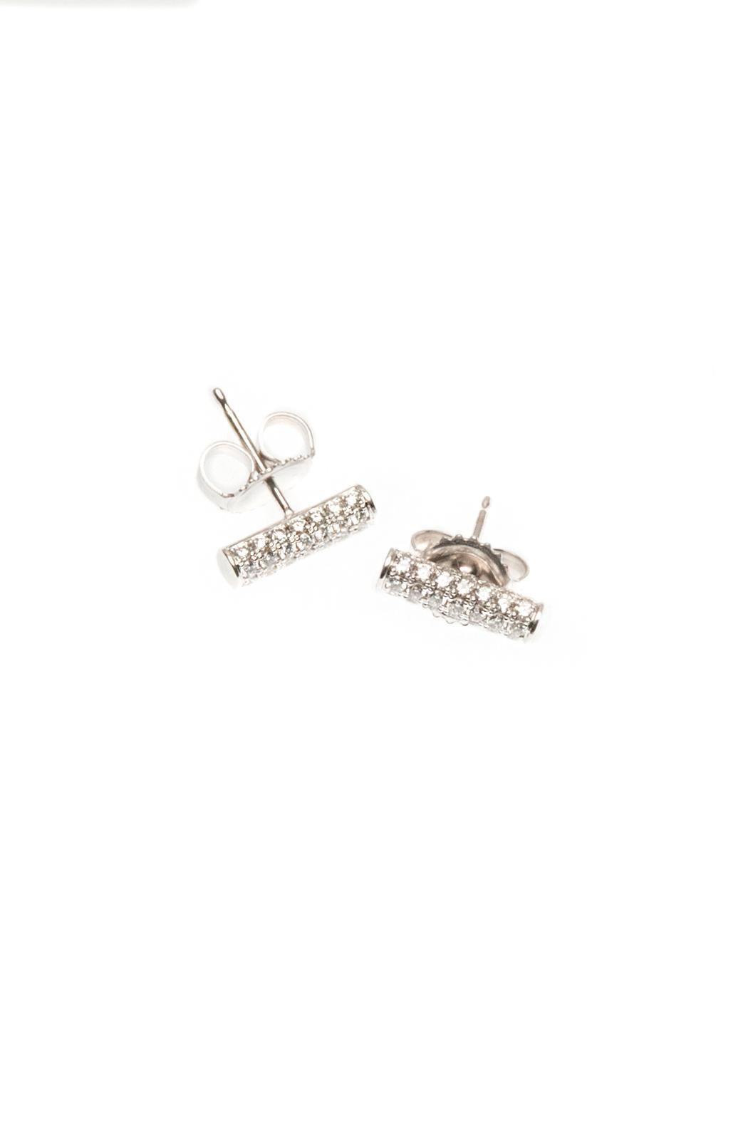 Made You Look Jewellery Diamond Bar Earrings Front Cropped Image