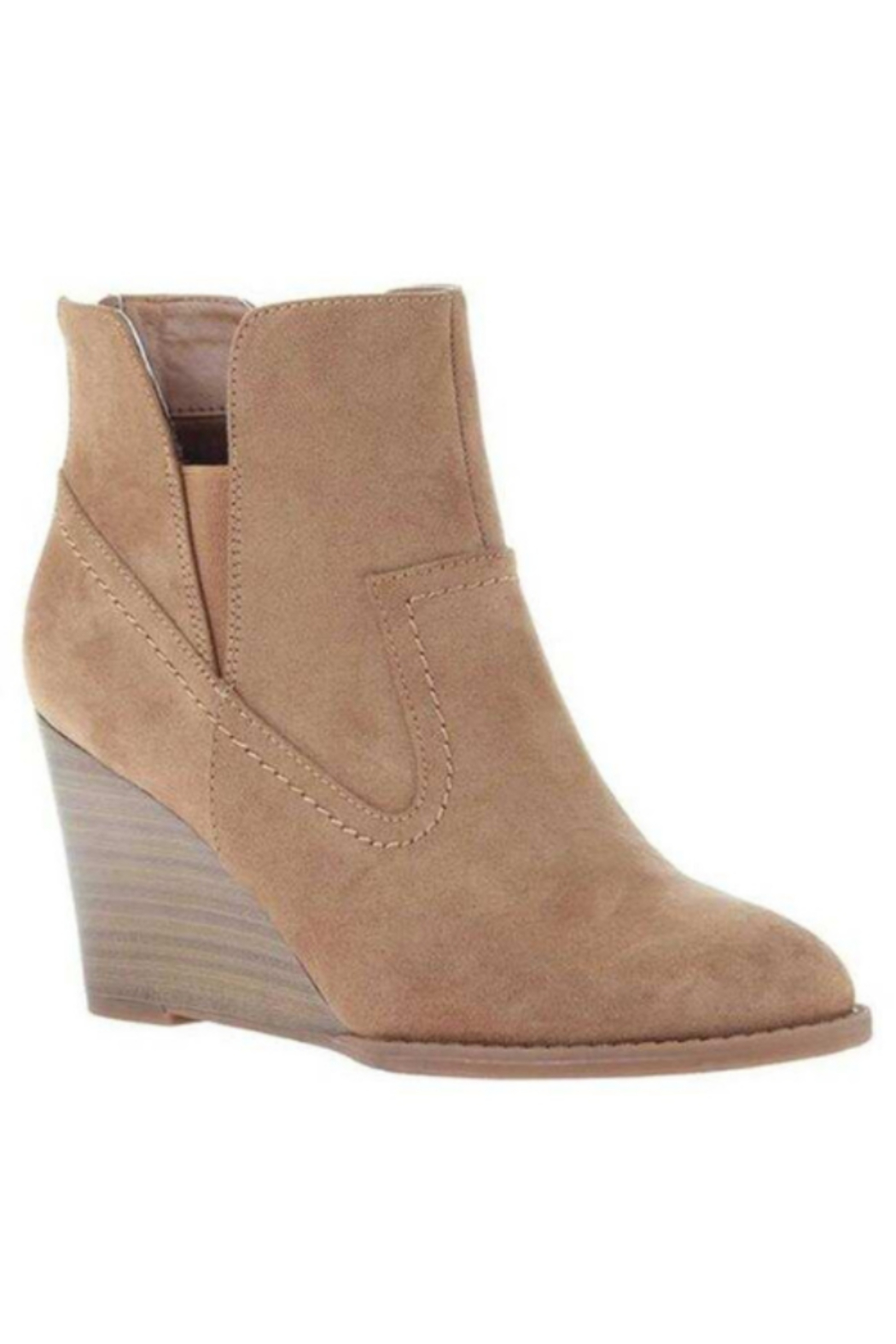 Madeline  Fantasyland Wedge Boot - New Tan - Front Cropped Image