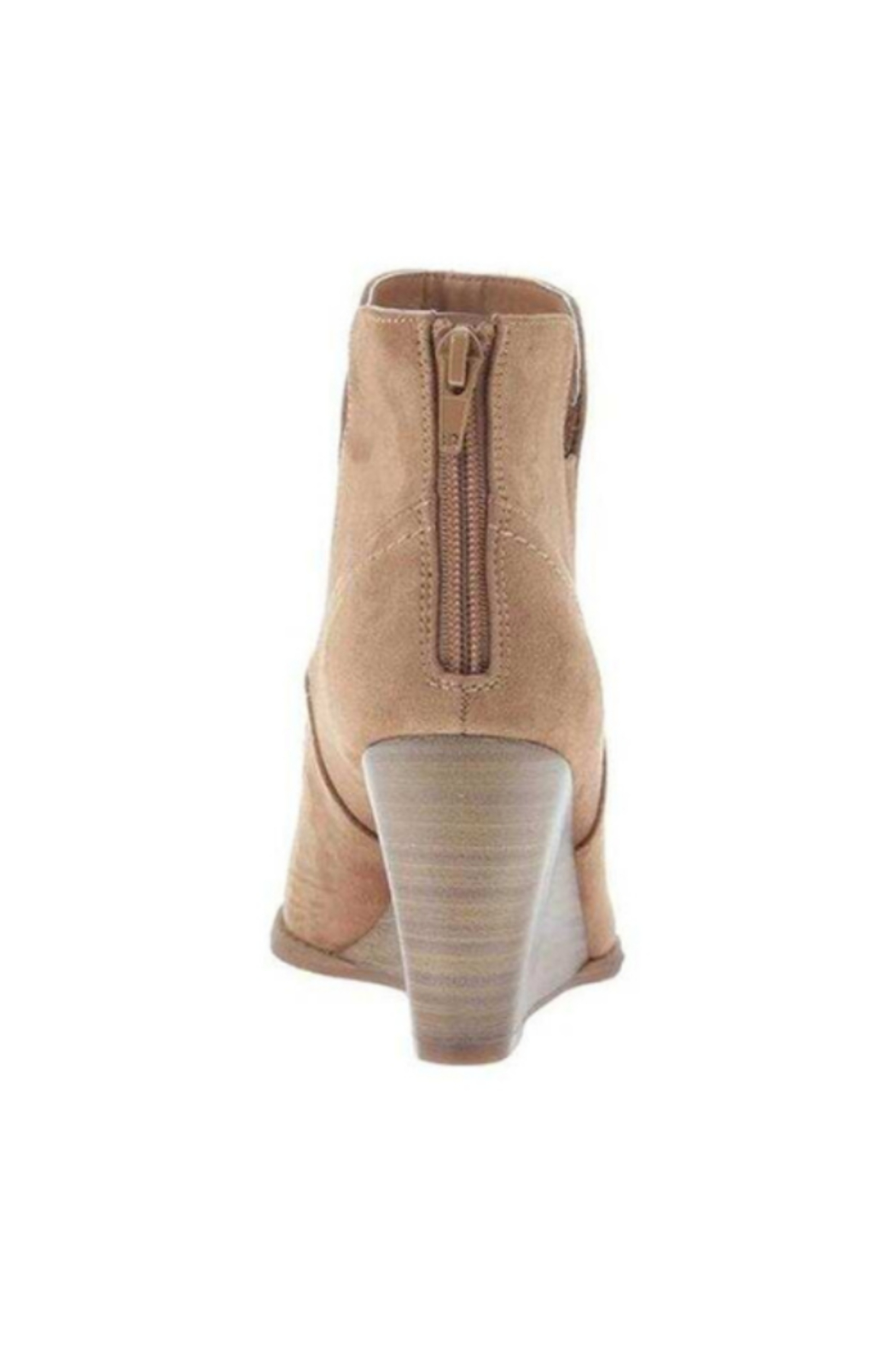 Madeline  Fantasyland Wedge Boot - New Tan - Front Full Image