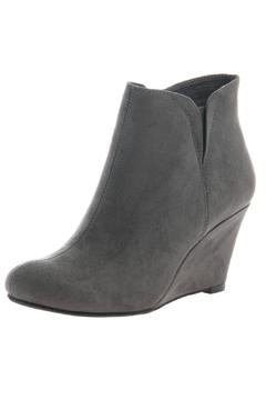 Shoptiques Product: Gray Wedge Bootie