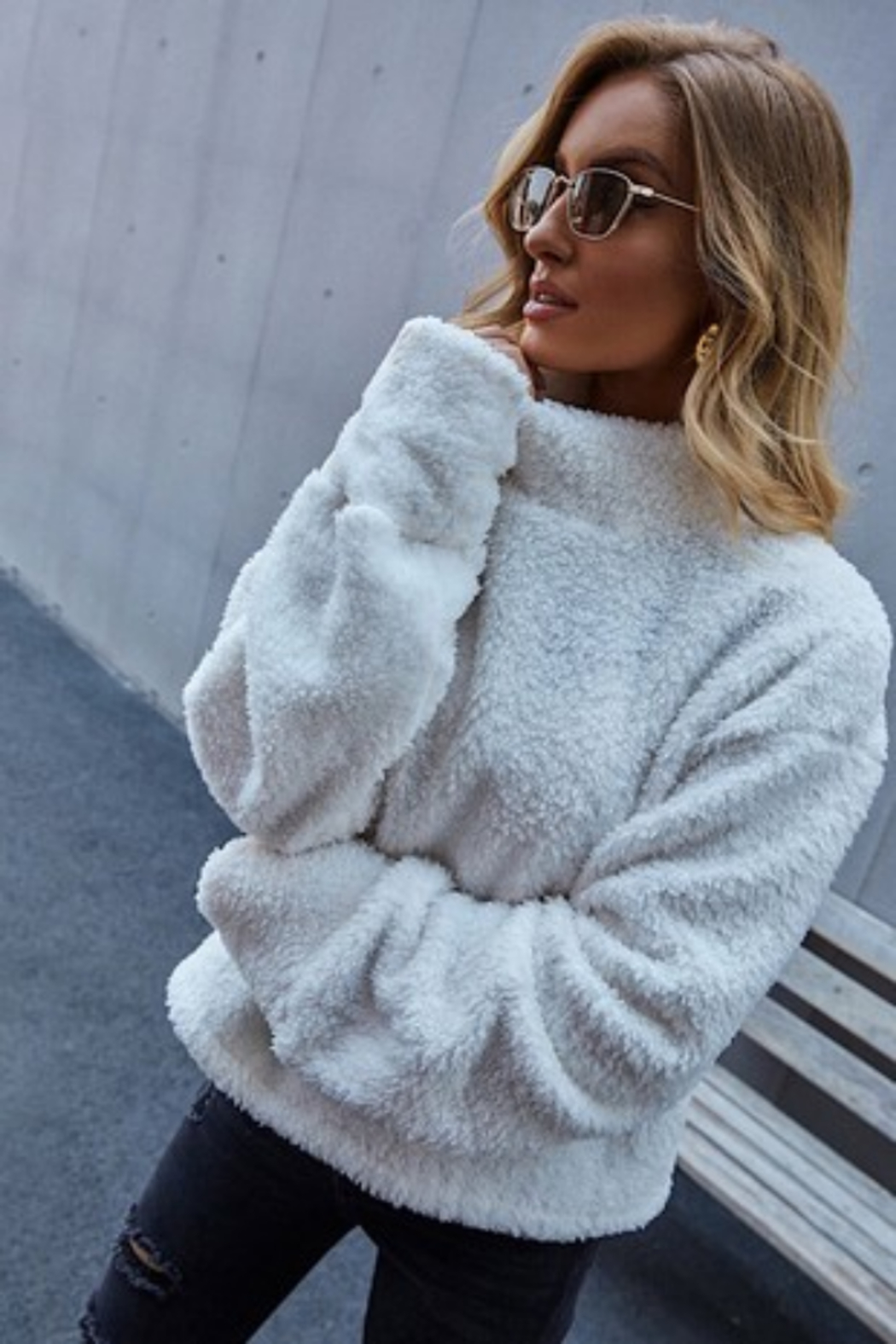 L Michele Madeline Sherpa Pullover - Main Image
