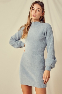 blue blush Madeline Sweater Dress - Product List Image