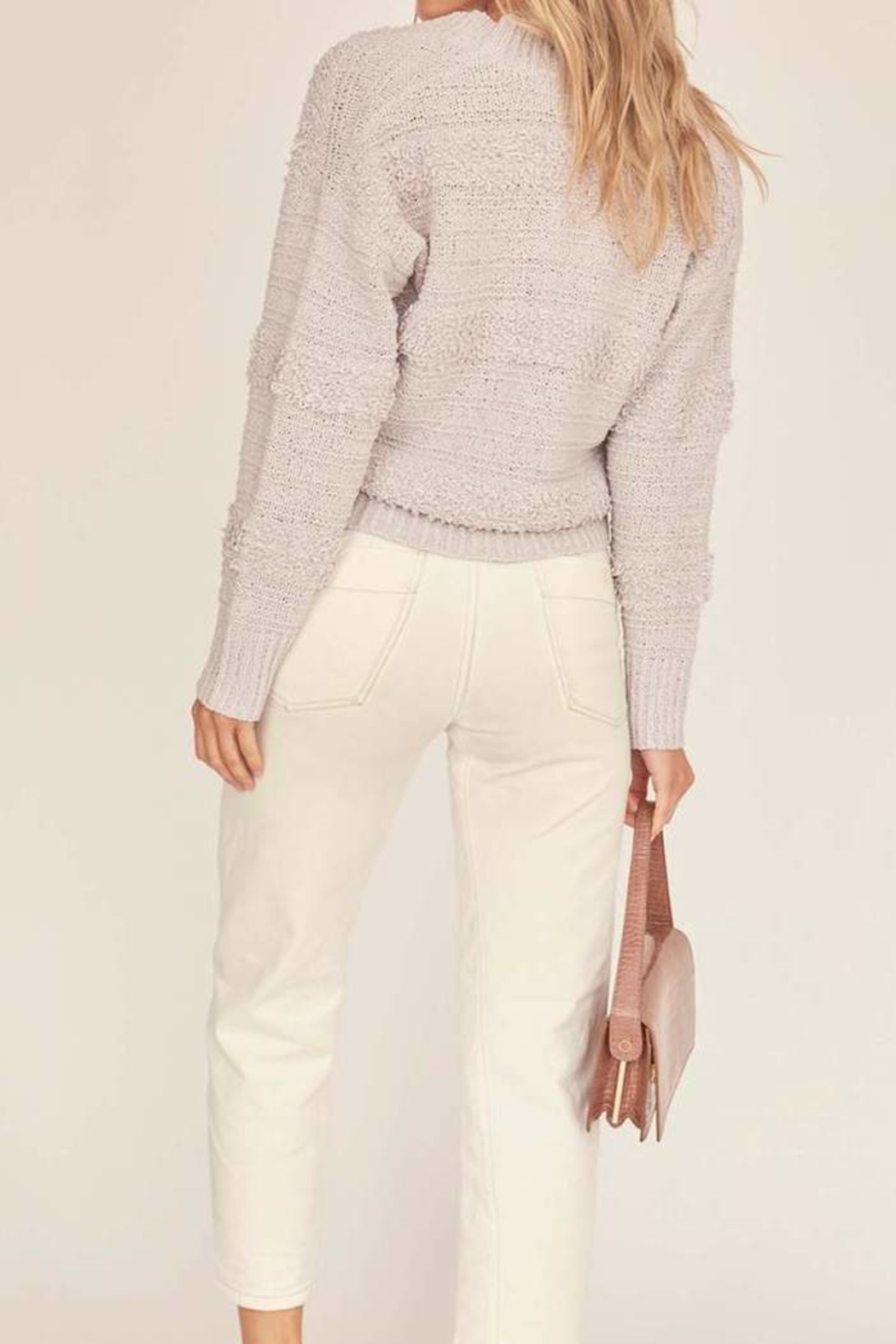 ASTR the Label Madeline Wrap Sweater - Front Full Image