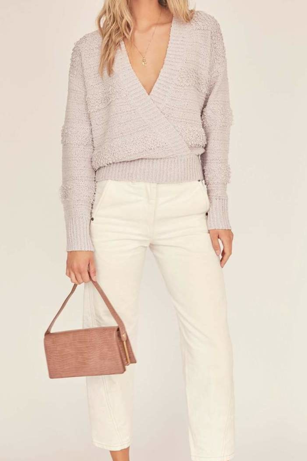 ASTR the Label Madeline Wrap Sweater - Front Cropped Image