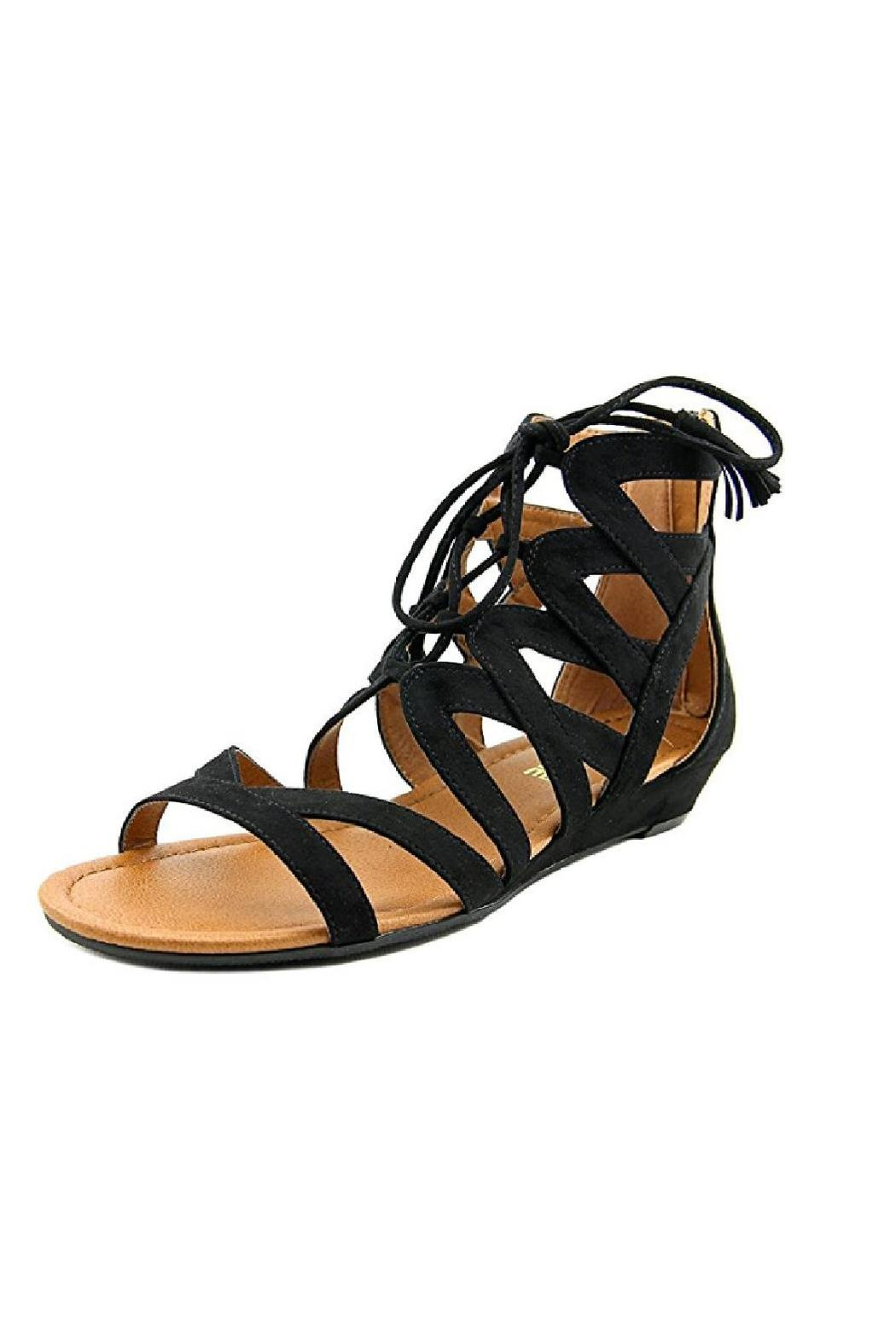 Madeline Saturate Gladiator Sandal - Back Cropped Image