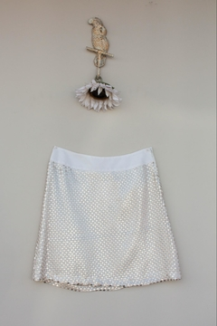 Shoptiques Product: Gold Sequence Skirt
