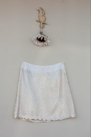 Mademoiselle Gold Sequence Skirt - Front cropped