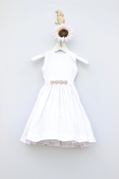 Mademoiselle White Jewel Dress - Product List Image