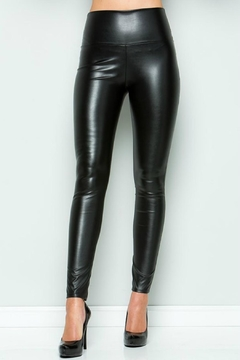 Madison Black Faux Leather Leggings - Product List Image