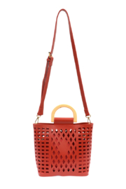 Joy Susan  Red Madison Cut Out Tote - Other