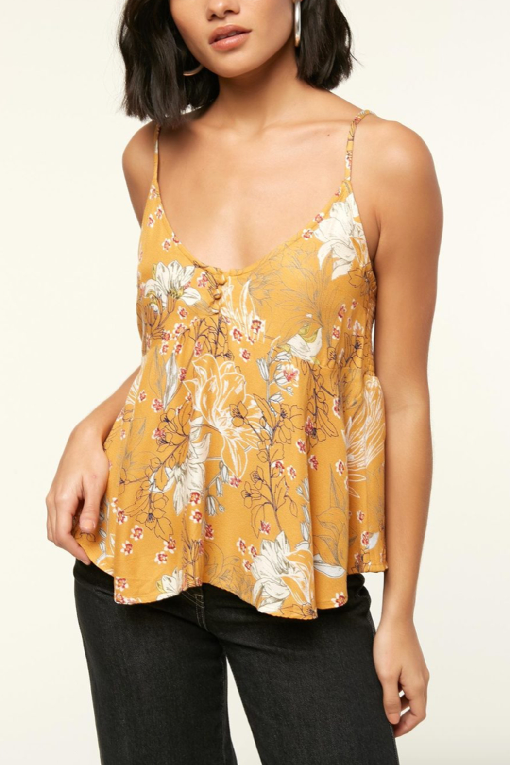 O'Neill Madison Floral Top - Front Cropped Image