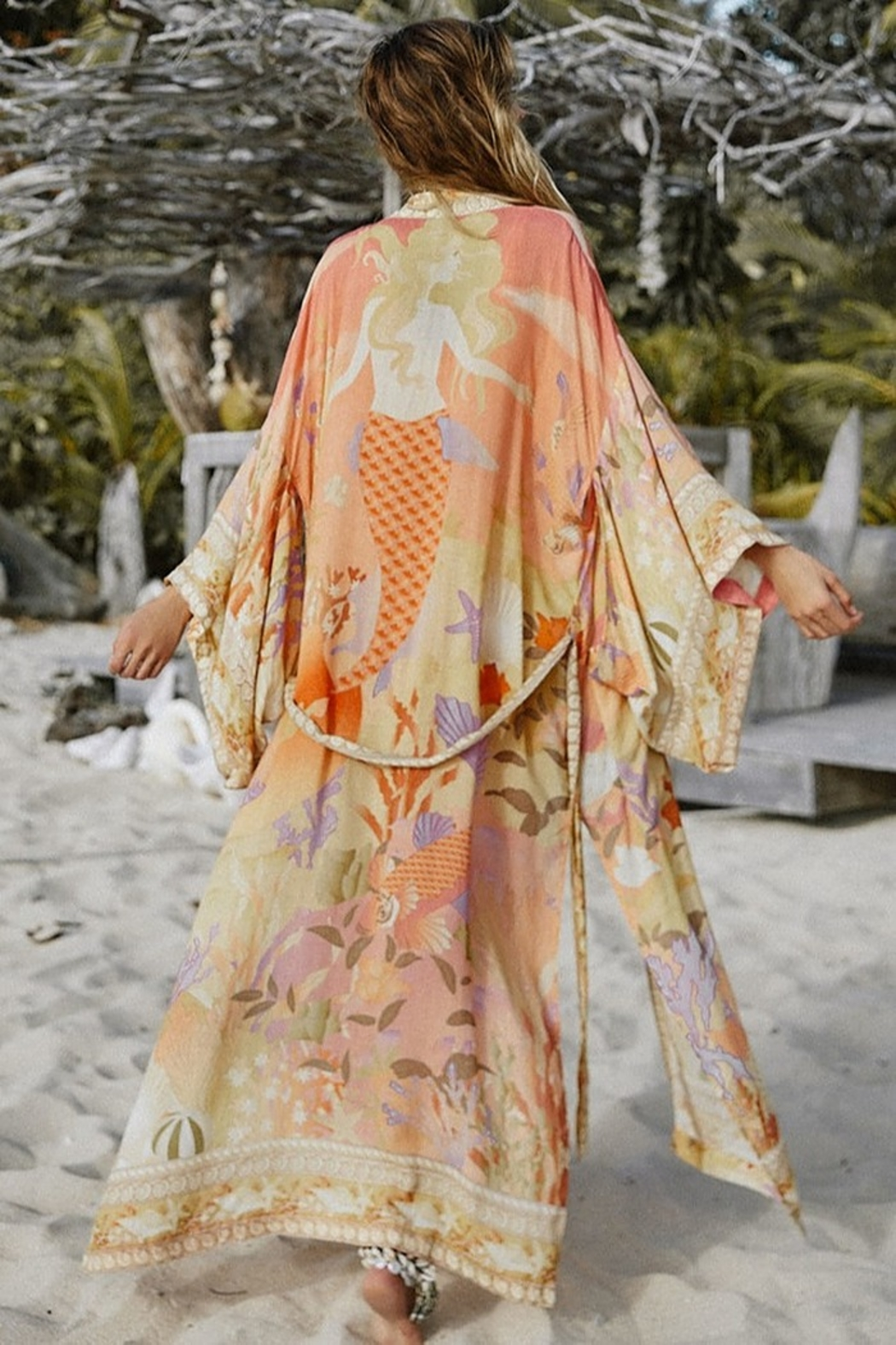 Spell & the Gypsy Collective Madison Maxi Robe - Coral - Main Image