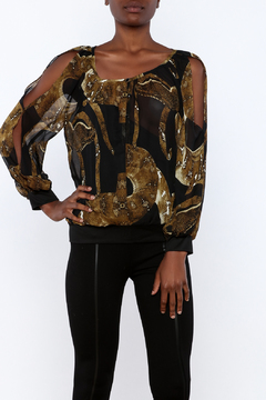 Shoptiques Product: Sheer Snake Blouse