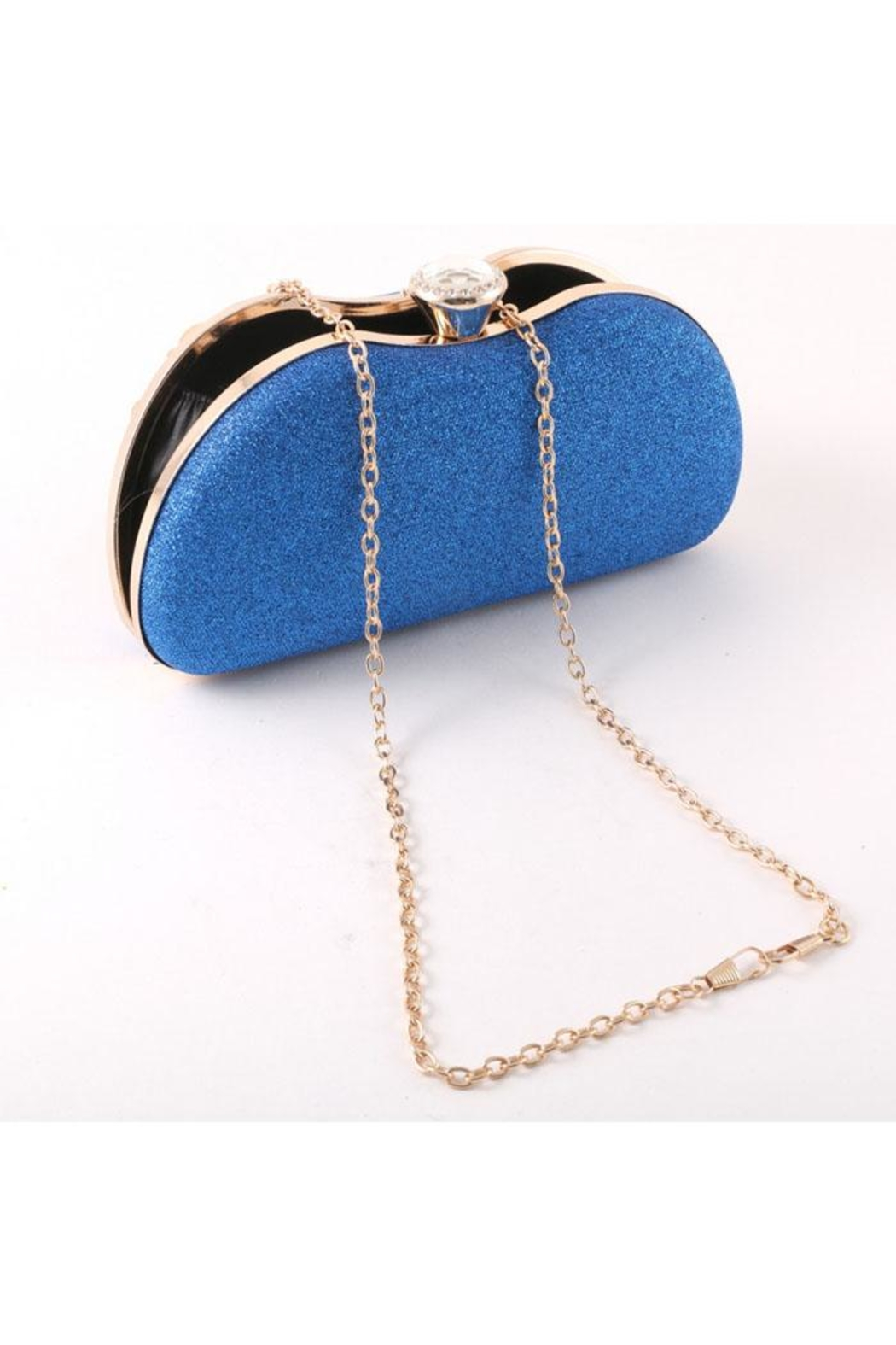 Madison Avenue Accessories Blue Stone Clutch - Front Full Image