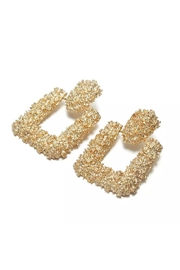 Madison Avenue Accessories Gold Square Earring - Front cropped