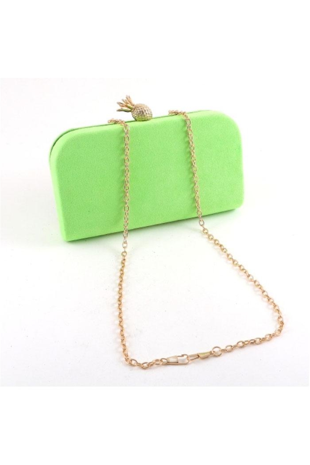 Madison Avenue Accessories Neon Pineapple Clutch - Front Full Image