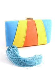 Madison Avenue Accessories Orange Neon Clutch - Front cropped