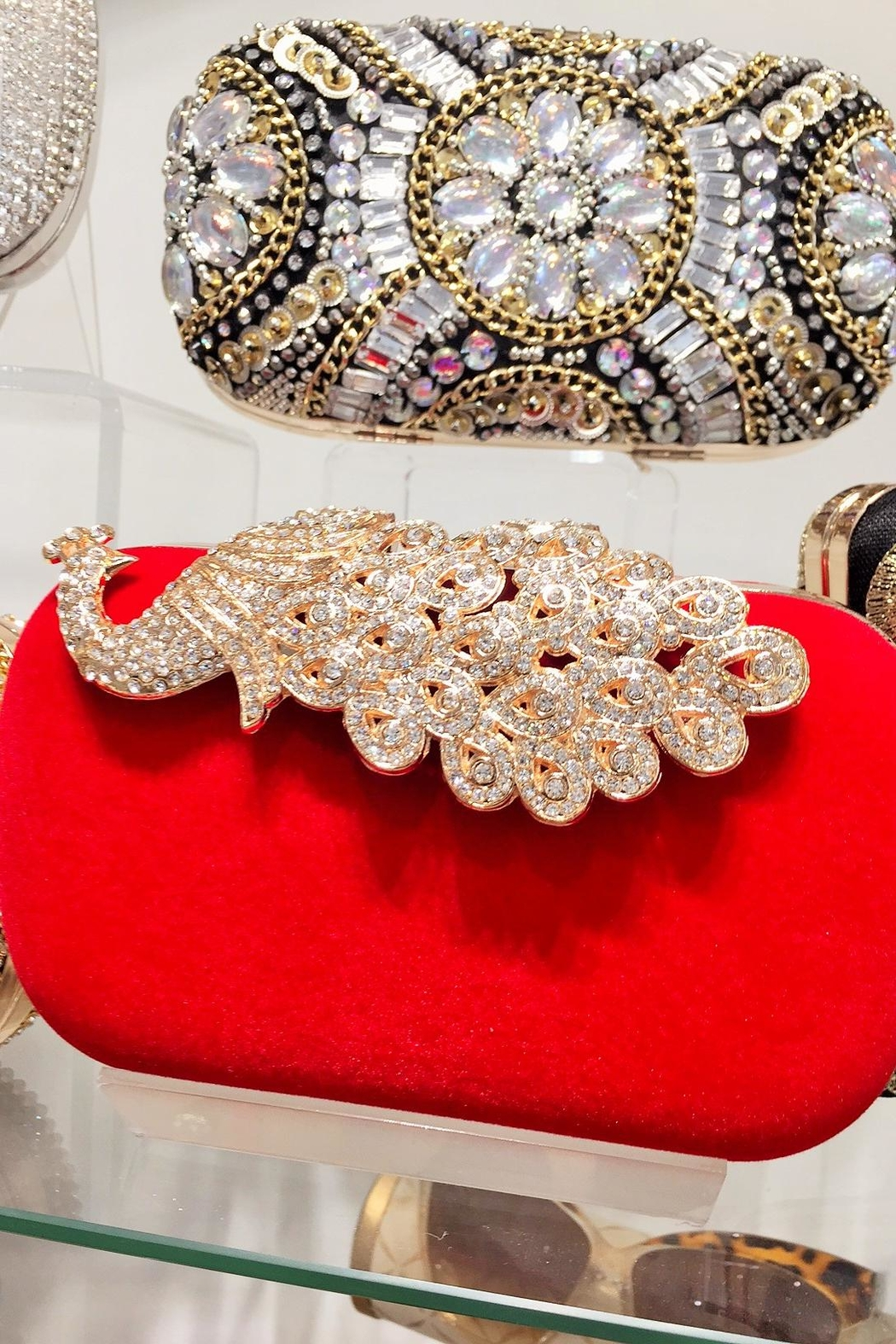 Madison Avenue Accessories Red Ellie Clutch - Main Image