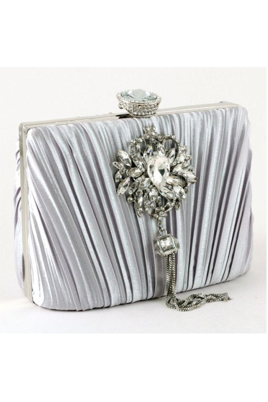 Madison Avenue Accessories Silver Royale Clutch - Main Image