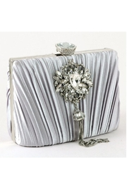 Madison Avenue Accessories Silver Royale Clutch - Front cropped