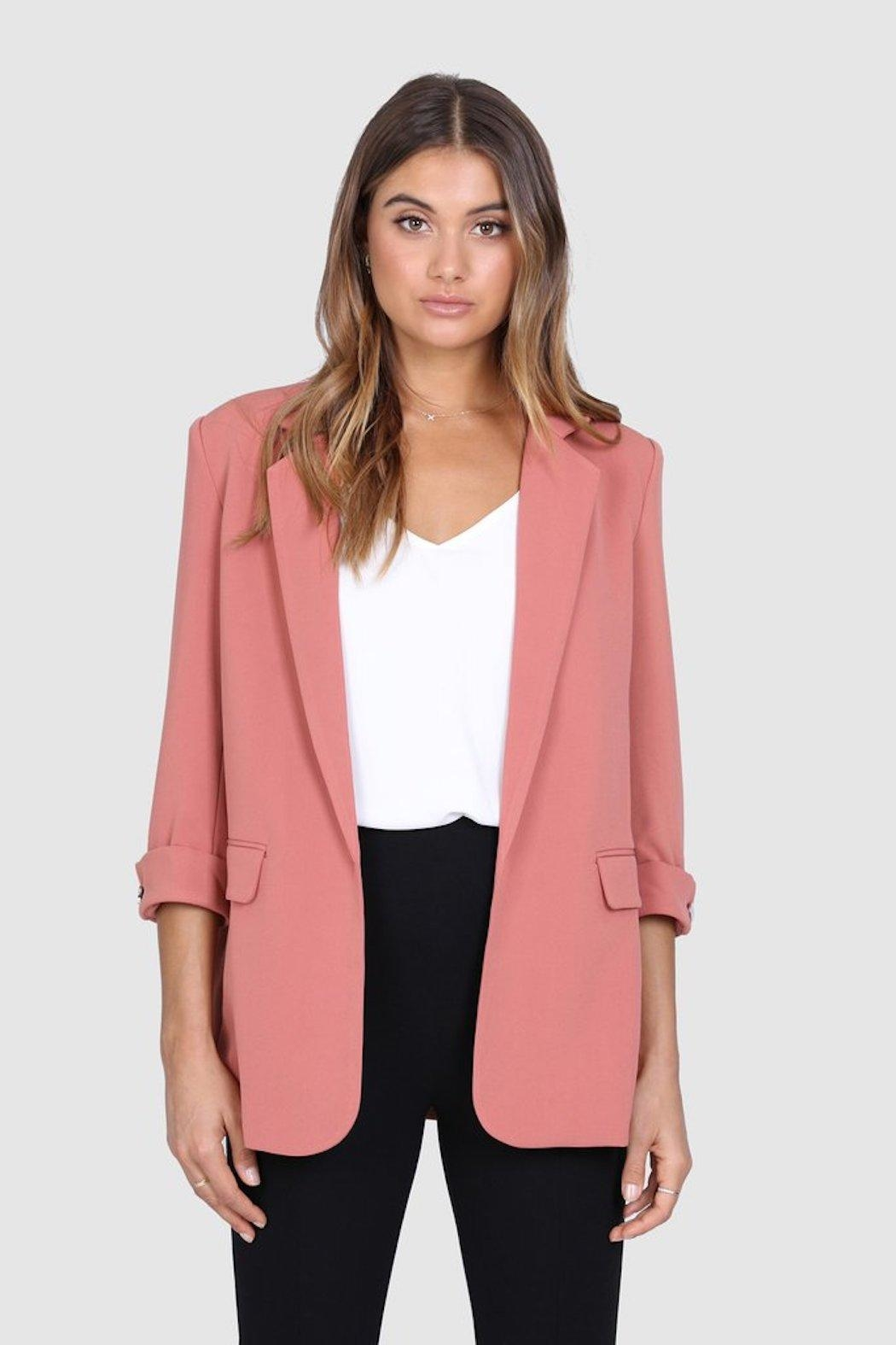 Madison the Label Essentials Blazer - Front Full Image