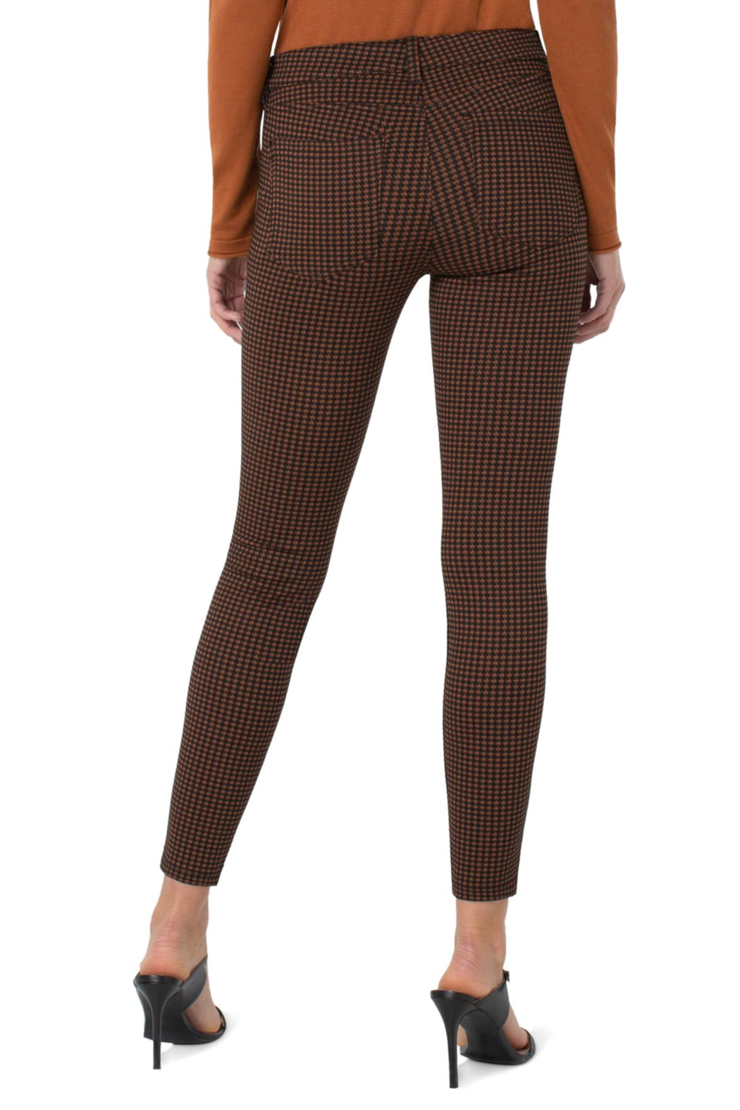 Liverpool  MADONNA LEGGING IN RUST/BLACK HOUNDSTOOTH - Front Full Image