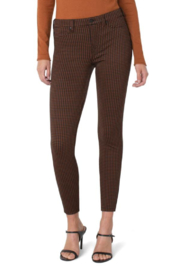 Liverpool  MADONNA LEGGING IN RUST/BLACK HOUNDSTOOTH - Front cropped