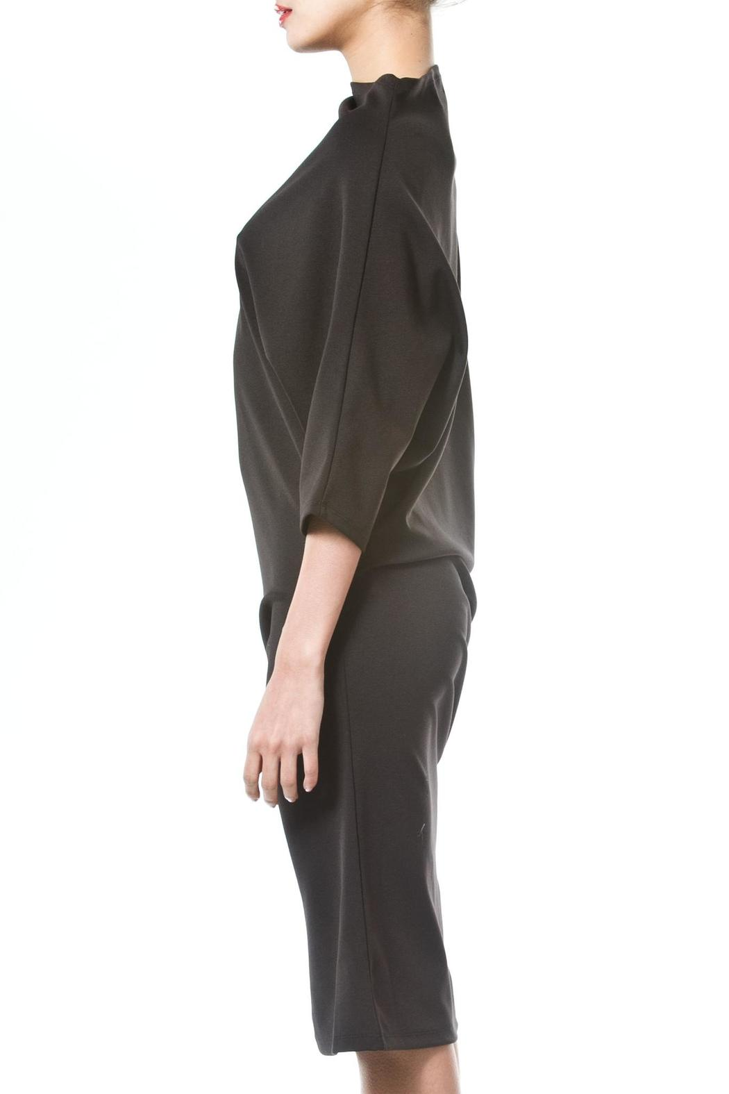 Madonna & Co Asymmetrical Knit Dress - Front Full Image