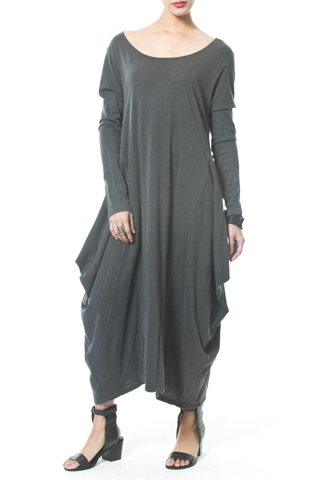 Madonna & Co Asymmetrical Maxi - Front Cropped Image