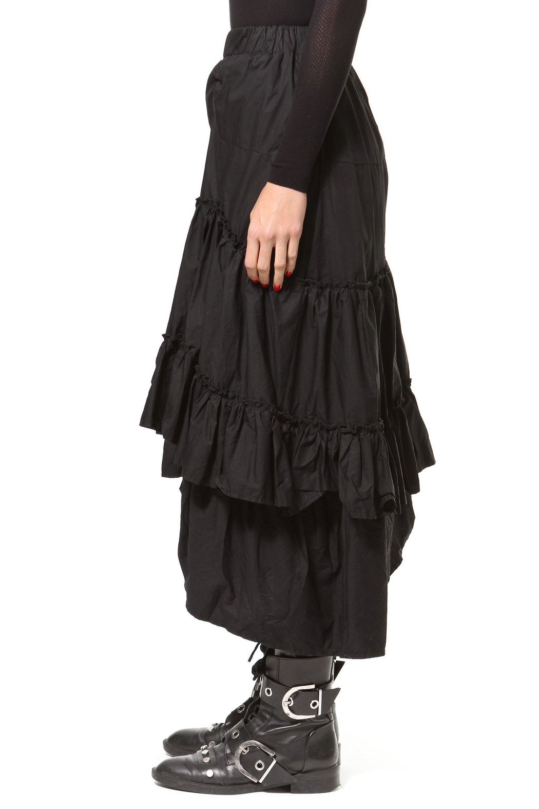 Madonna & Co Asymmetrical Tiered Skirt - Back Cropped Image