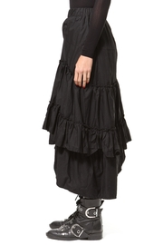 Madonna & Co Asymmetrical Tiered Skirt - Back cropped