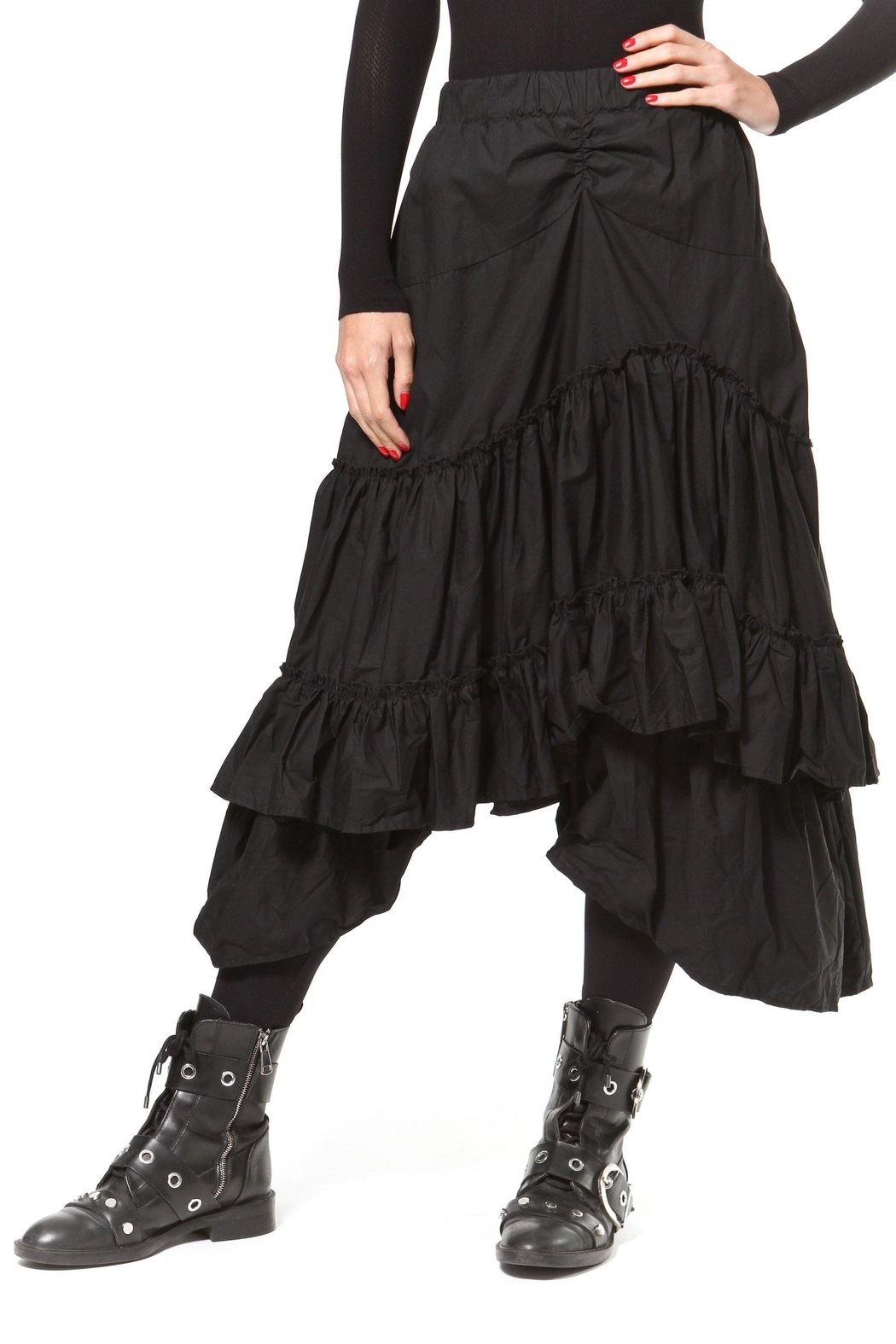 Madonna & Co Asymmetrical Tiered Skirt - Main Image