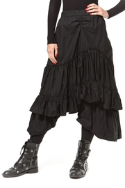 Madonna & Co Asymmetrical Tiered Skirt - Front cropped
