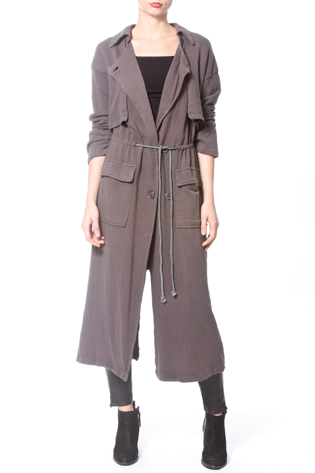 Madonna & Co Fleece Trench - Front Cropped Image