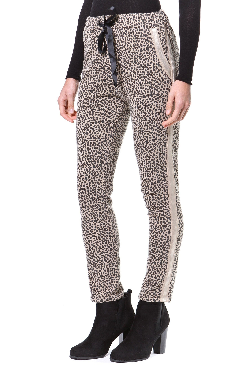 Madonna & Co Giraffe Print Trackpant - Front Cropped Image