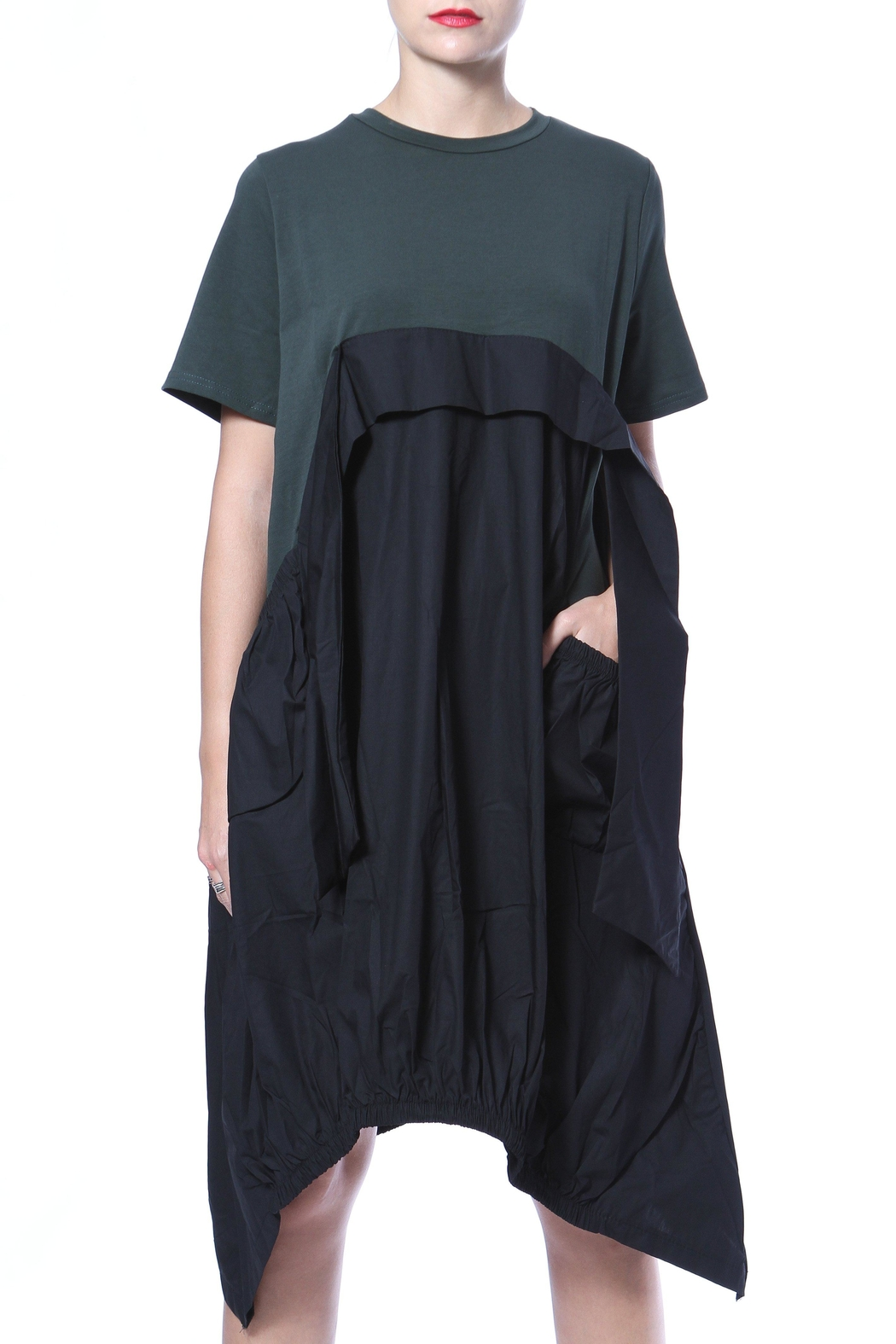 Madonna & Co Hi-Lo Chic Dress - Front Cropped Image
