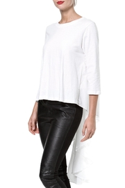 Madonna & Co Hi Lo Knit Woven Top - Front cropped