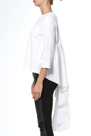 Madonna & Co Hi Lo Knit Woven Top - Front full body